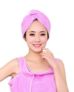 Scheppend Absorbent Microfiber Twist Hair Turban Dry Cap Bath Head Wrap CapLight Purple >>> Click image for more details.(This is an Amazon affiliate link and I receive a commission for the sales)