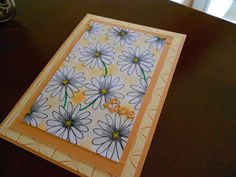 Card with daisies