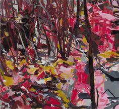 "Allison Gildersleeve Foothold, 2014 Oil on canvas 42"" x 46"
