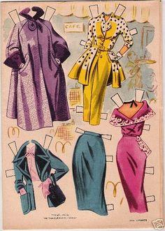 1953 Ava Gardner paper doll clothes / eBay