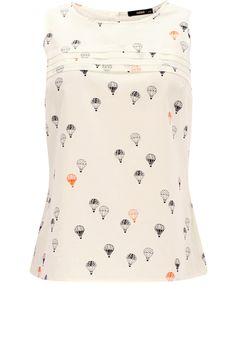 Oasis Shop   Multi White Balloon Shell Top   Womens Fashion Clothing   Oasis Stores UK