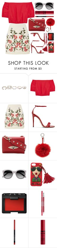 """""""Mexico"""" by monmondefou ❤ liked on Polyvore featuring GUESS, Madewell, Topshop, Gucci, RED Valentino, Fendi, EyeBuyDirect.com, NARS Cosmetics, Lancôme and Maybelline"""
