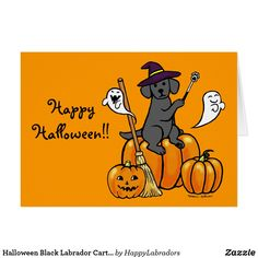 Shop Halloween Chocolate Labrador Cartoon 2 Card created by HappyLabradors. Halloween Chocolate, Black Labrador, Custom Greeting Cards, Invitation Design, Thoughtful Gifts, Winnie The Pooh, Disney Characters, Fictional Characters, Snoopy