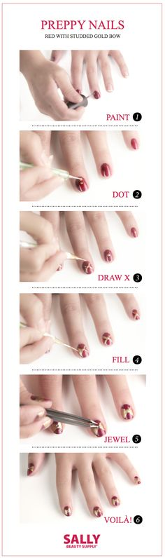 Put a #bow on it with these Classic Darling #Nails!