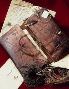 19th century fly fishing wallet.