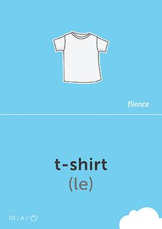 T-shirt #CardFly #flience #clothes #french #education #flashcard #language
