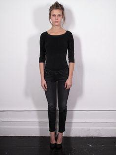 Marine Vacth - Black top, skinnt jeans and heels