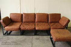 irvinsofaアメリカンヴィンテージ家具を展開するブランドACME Furniture(アクメファニチャー)の組み合わせが自由にできるカッコいい「IRVIN SOFA(アーヴィンソファー)」。 味のあるオイルレザーとアイアンフレームがヴィンテージ感たっぷり!