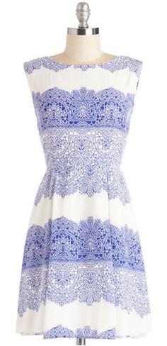 sweet white and blue dress http://rstyle.me/n/wn49sr9te