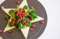 Ensalada de granada, canónigos y queso semicurado Las Terceras - Pomegranate, canons and Las Terceras semicured cheese #gourmet #manchego #Navidad #Christmas