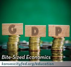 """Watch """"The Fed Explains Real vs. Potential GDP."""" Brainstorm events since 1930 that may significantly have impacted U.S. gross domestic product. Use this spreadsheet to see if GDP changed dramatically. Discuss possible reasons why GDP may or may not have changed due to the event. Teaching Economics, Economics Lessons, Federal Reserve System, Education Middle School, Gross Domestic Product, Financial Literacy, Brainstorm, Personal Finance, High School"""