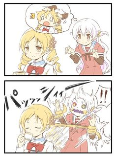Bebe(Nagisa) learned a valuable lesson, Don't try to surprise Mami