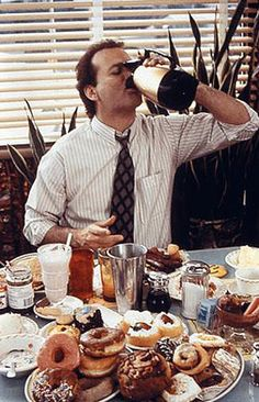 Breakfast with Bill Murray. Groundhog Day, 1993.