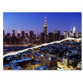 Found it at Wayfair - Downtown City at Night by Philippe Hugonnard Graphic Art on Wrapped Canvas