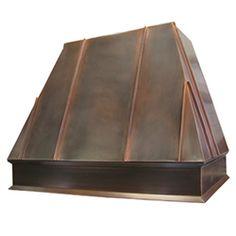 custom copper range hood Texas Lightsmith Model #39