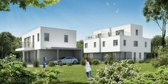 Obere alte Donau Modern Design, Mansions, House Styles, Home Decor, Decoration Home, Manor Houses, Room Decor, Contemporary Design, Villas