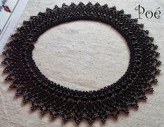 1. Netted necklace.  Pöttyök és szívek by Poe