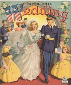 CLEARANCE SALE VINTAGE WEDDING PAPER Dolls RPRO FREE SHW2   eBay