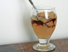 Ginger jelly with honey molasses syrup. Korean dessert, suitable for Clear Liquid Diet