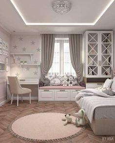 Kids Bedroom Designs, Room Design Bedroom, Room Ideas Bedroom, Kids Room Design, Home Room Design, Girls Bedroom, Master Bedroom, Bed Room, Master Suite