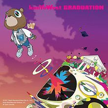 Kanye west tapped takashi murakami to art direct his 2007 album graduation . the cover executed Rap Album Covers, Iconic Album Covers, Music Covers, Takashi Murakami, Keith Haring, Cover Art, Kanye West Albums, Kanye West Album Cover, Mode Hip Hop