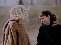 Cate Blanchett and Rooney Mara on the set of Carol (2015)
