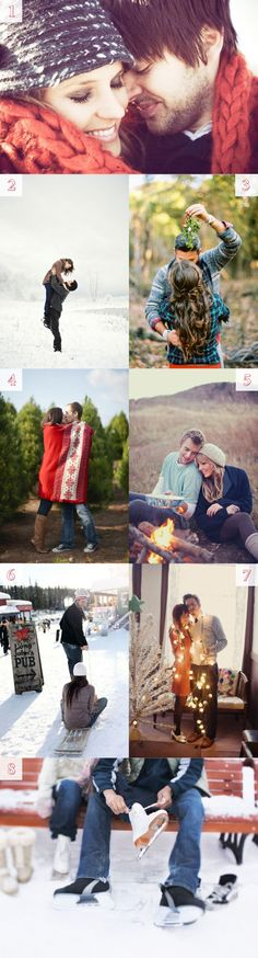 #winter engagement photo inspiration - #snow #esession