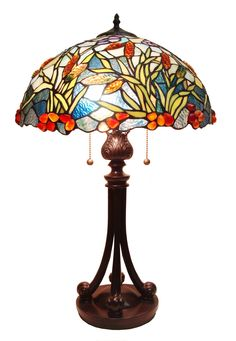 "Tiffany 26"" H Table Lamp with Bowl Shade"