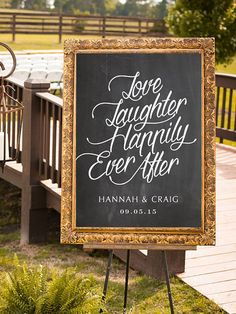 PRINTABLE Wedding Sign Love Laughter Happily Ever by P27Creative