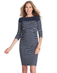 Say hello to maritime chic this season with our Nautical Nursing Shift Dress!  Add sneakers and sunnies for transitional style, or layer up with tights and a jacket when the weather turns colder. maternity clothes   maternity style   pregnancy fashion   maternity fashion fall/winter   maternity fashion winter    maternity fashion first trimester   pregnancy style chic   pregnant   mom to be   bump style   BabyBump   ExpectingMom   Fashion   Bump   Pregnancy   Seraphine   Fashion Mom…