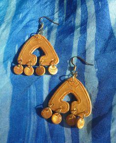 earring, earringCARMEN, fimo clay earring, hand made earring by tothajhsa on Etsy