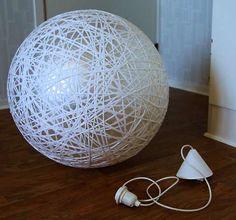 DIY Globe Chandeliers -  The Inspireramera Pilates Ball Lamp Tutorial is Cleverly Cute #globechandeliers #chandeliers #decor #design
