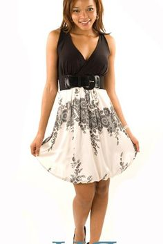 DHSTYLES: DHStyles Women's Black Ivory Cutest Eva Paisley Plus Size Dress with Belt - 1X Buy Now $3.5 Find at Faearch