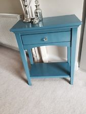 Shabby Chic Blue Consol Table/cabinet/sideboard With Drawer And Shelf