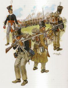 Infanterie de ligne hollandaise en tenue de campagne 1815.