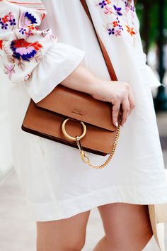 Free People Embroidered Dress with Chloé crossbody