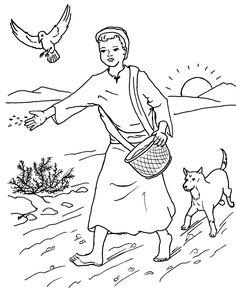 6 PARABOLES DE MATTHIEU 13  (le semeur, l'ivraie, le grain de moutarde, le trésor, la perle de prix et les poissons) livre avec coloriages Biblenfant