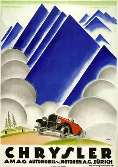 1920s Ernst Otto poster design for Chrysler.