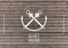 Double anchor logo design by Domenico Liberti, via Behance