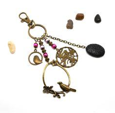 A parfumer!!! Porte clés bronze oiseaux : Porte clés par breloques-et-cie