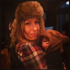Lumberjack and Bear // via carlaleonie on Instagram #babywearing #sakurabloom
