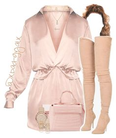 """""""Happy Valentine's Day💞"""" by xbad-gyalx ❤ liked on Polyvore featuring Crislu, Nancy Gonzalez, Burberry, Balmain and Forever 21"""