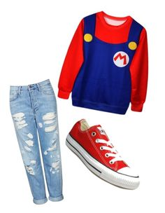 """""""mario bross"""" by patrii1989 on Polyvore featuring Topshop and Converse"""