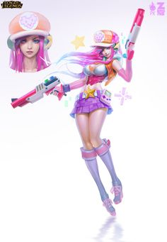 Arcade Miss Fortune - Official Concept Art, Paul Kwon on ArtStation at https://www.artstation.com/artwork/arcade-miss-fortune-official-concept-art
