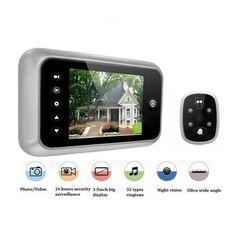 "3.5""  LCD T115 Color Screen Doorbell Viewer Digital Door Peephole Viewer Camera Door Eye Video record 120 Degrees Night vision #Affiliate"