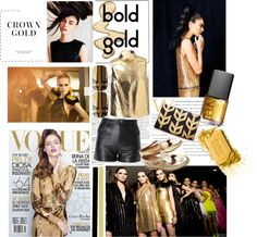 """""""Gold power"""" by victoria-russa ❤ liked on Polyvore"""