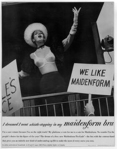 I Dreamed I Went Whistle Stopping. Vintage Ads. Maidenform.