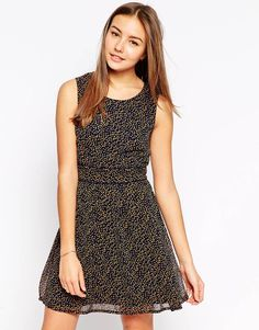 Yumi Dress in Mini Spot Print
