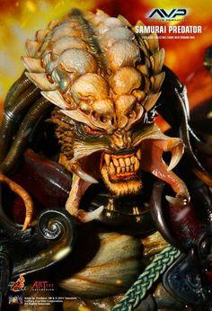 Bonecos e Figuras de Ação   Boneco Hot Toys Alien Vs. Predator Samurai Predador Ac01