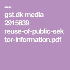 dk media 2915639 reuse-of-public-sektor-information. Open Data, Reuse, Public, Pdf
